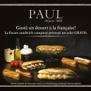 Taste an on the house dessert a la francaise in PAUL bakeries