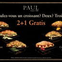 PAUL Bakery launches, in limited edition, the Croissant Gourmet range