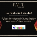 Donează un zâmbet copiilor din MagiCAMP achiziționând o tartă cu zmeură Paul